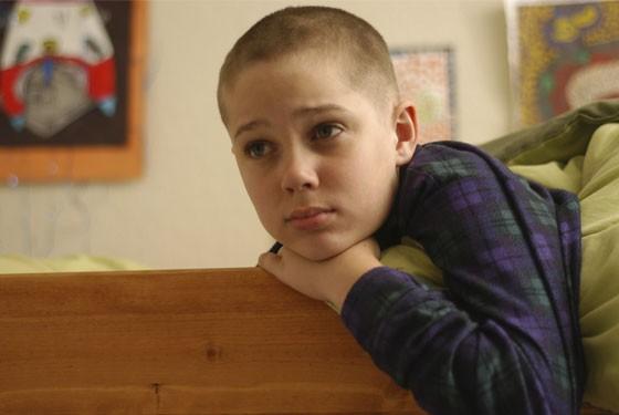 Mason (Ellar Coltrane) at nine years old in  Richard Linklater's Boyhood.