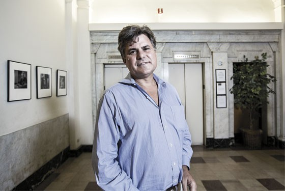 After buying the Mark Twain Hotel in 1995, Amos Harris moved in on the eighth floor.