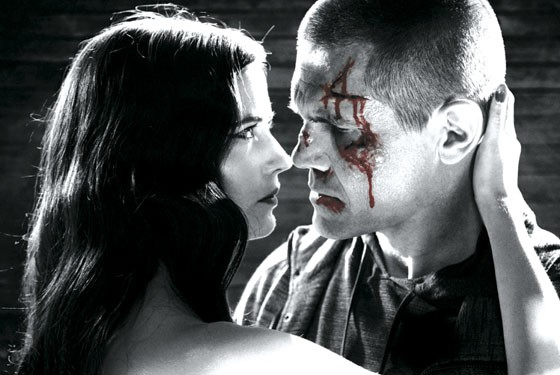 Josh Brolin and Eva Green in Sin City: A Dame to Kill For.