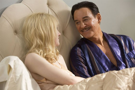 May-December romance: Dakota Fanning and Kevin Kline.