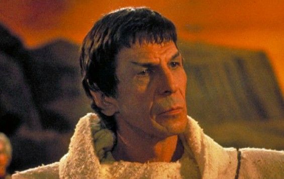 Nimoy in a publicity still for Star Trek III: The Search for Spock .