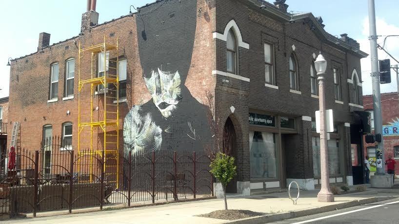 Purth's mural before the vandalism. - ALLISON BABKA