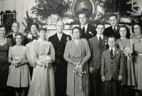 Price and his family at his parents' golden wedding anniversary in 1944. - COURTESY OF ROBERT TAYLOR