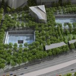 A rendering of the future 9/11 memorial grounds. - IMAGE VIA