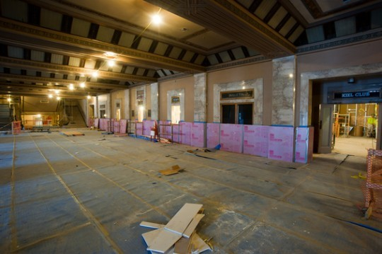 The ticket lobby at the Peabody last month -- still a long way to go before opening day. - TOM PAULE PHOTOGRAPHY VIA WWW.PEABODYOPERAHOUSE.COM