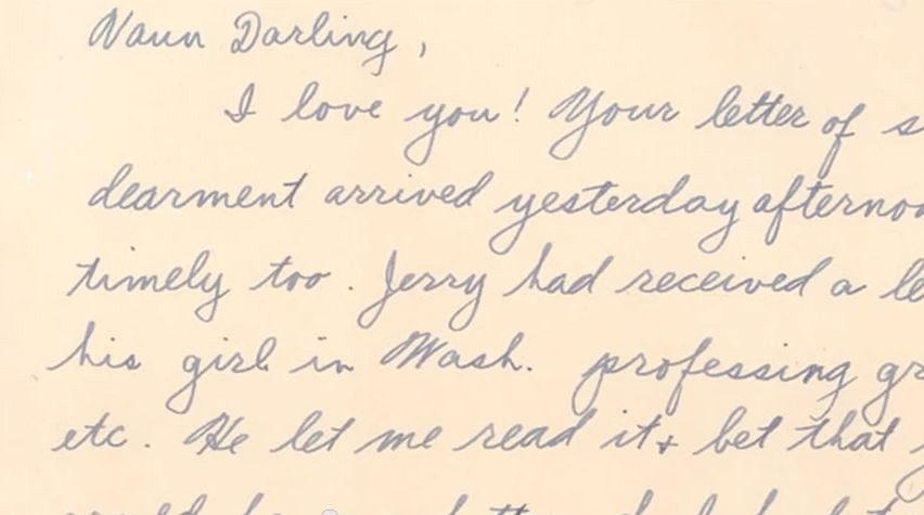 Sanditz's grandfather's love letter gets right to the point.