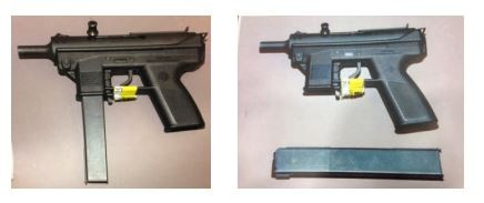 The gun recovered by police. - SLMPD