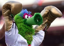 They don't call 'em Phillies Phanatic(s) for nothing.