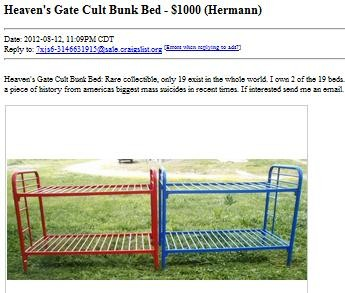 Bunk Beds From Mass Suicide For Sale on St Louis Craigslist