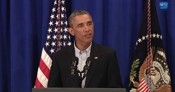 President Barack Obama addresses the media. - WHITE HOUSE | YOUTUBE