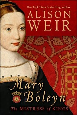The lady on this book jacket isn't actually Mary Boleyn because no portraits of her survive.