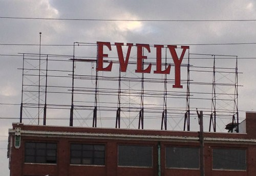 "Shot of the historic sign after the ""P"" fell off in the fall. - PHOTO BY AIMEE LEVITT"