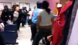 Screenshot of East St. Louis brawl. Video below.