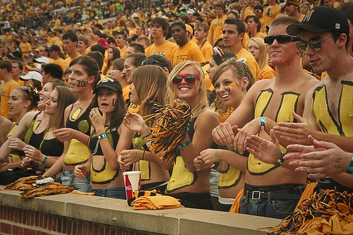 University of Missouri fans. In case you couldn't tell. - FLICKR.COM/PHOTOS/FINITEFOCUS