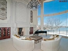 The view from inside Darain Atkinson's Lake Saint Louis mansion.