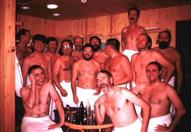 MAC members rejoice after their sauna is liberated from preening assholes.