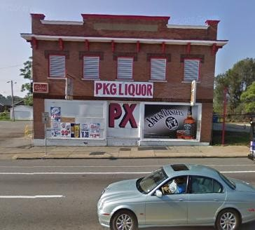 PX Liquor: Scene of the crime.