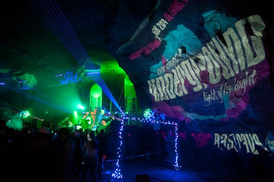 Partying in a cave is stalac-TIGHT, amiright ravers? - PHOTOS BY JON GITCHOFF