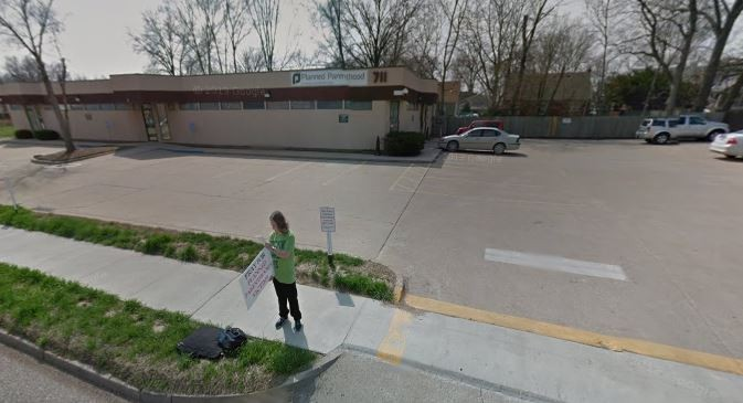 The entrance to the Columbia, Missouri Planned Parenthood where Kathy Forck was accused of trespassing in 2012. - GOOGLE MAPS