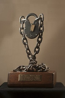The Golden Padlock Award. - INVESTIGATIVE REPORTERS AND EDITORS
