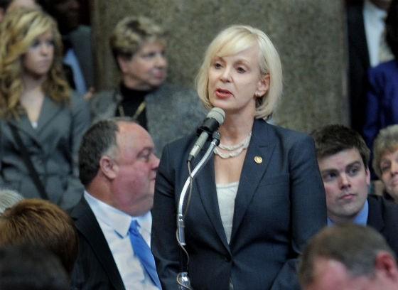 Representative Stacey Newman. - VIA