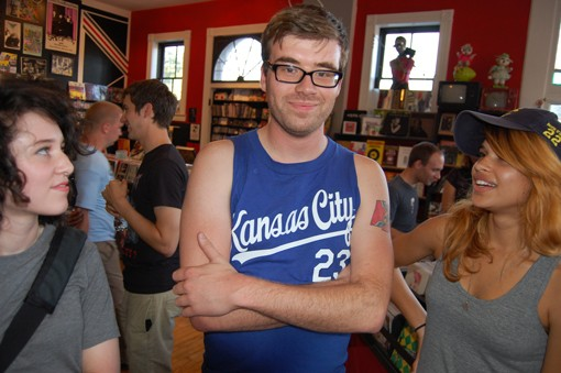 A Kansas City Royals shirt and a St. Louis tattoo? Ben Smith is ready for the I-70 series. - VIA