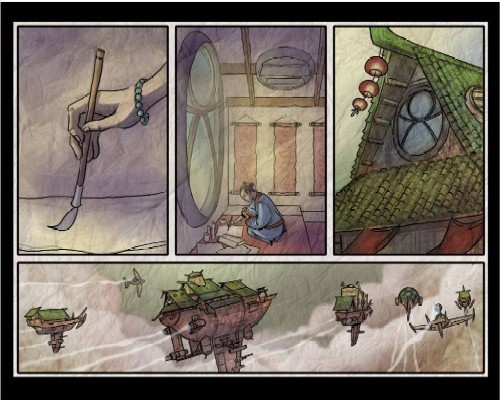Airships, part of Bam! Pow! Zap! Comic Art and Storyboarding. - CHRIS BECK