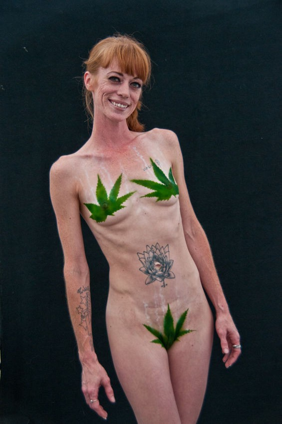 That is some strategically placed body paint. - CAROLINE YOO