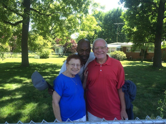 Bernice Deardeuff, her son Steve (right) and Derrick Thomas are proud of their subdivision off West Florissant Avenue. - PHOTO BY MITCH RYALS