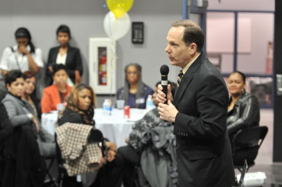 Mayor Slay at a recent fundraiser. - SLAY CAMPAIGN