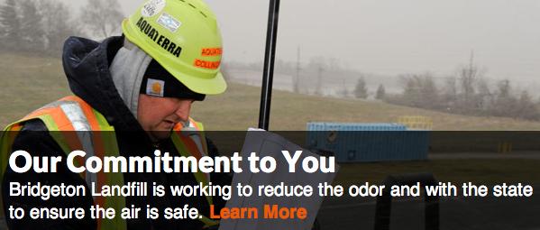 Screenshot of Republic Services' Bridgeton landfill informational website. - VIA