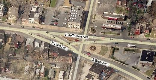 The intersections of Jefferson, Chippewa and South Broadway (above) has been a nexus for St. Louis prostitutes. Now residents living farther south on Broadway say the hookers have moved there.