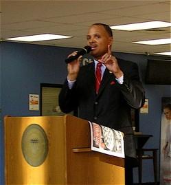 East St. Louis Mayor Alvin Parks at his 2009 press conference. - KEEGAN HAMILTON