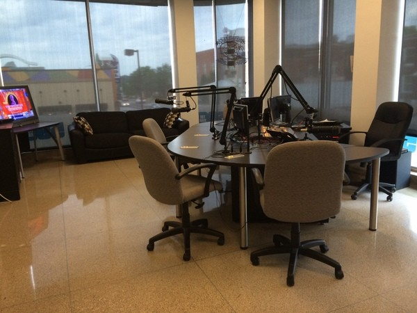 The 590 AM studio. - LINDSAY TOLER