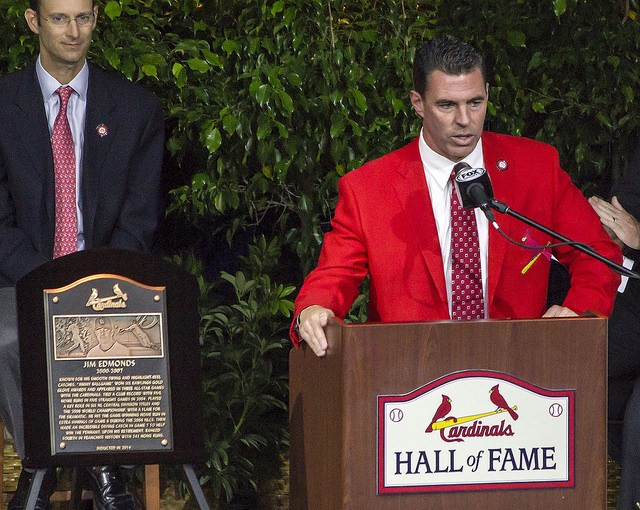 Jim Edmonds was inducted into the 2014 Class of the St. Louis Cardinals Hall of Fame. - BUZBETO VIA FLICKR