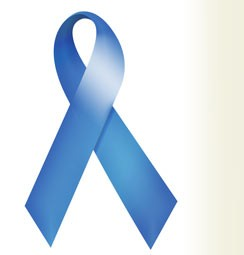 Prostate cancer has a ribbon, too. But be careful: That's light blue, not plain old blue, which boosts awareness for, among many other things, sex slavery, child abuse, bullying, hydranencephaly  and chronic fatigue syndrome. - IMAGE VIA