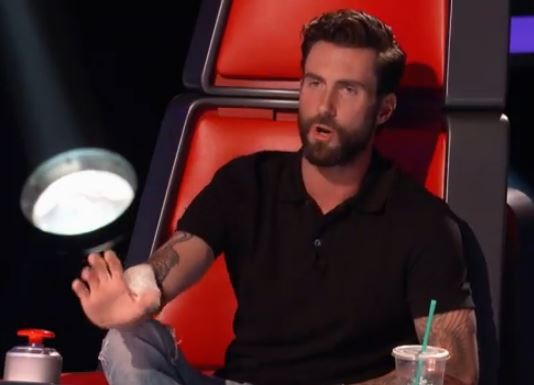 Adam Levine, James Irwin's new singing sensei - THE VOICE, VIA YOUTUBE