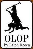 """Olop "" = Polo, spelled backwards, with the tagline: ""Save a Pony, Ride a Preppy!"""