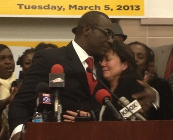 Lewis Reed and his wife Mary Entrup. - SAM LEVIN