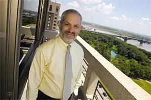 Sterman outside his downtown office in 2007. - PHOTO: JENNIFER SILVERBERG