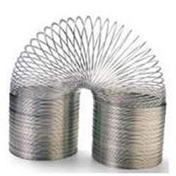 Alright, so it's a Slinky, not really a spring. I happen to like Slinkys. (Slinkies?) Sue me.