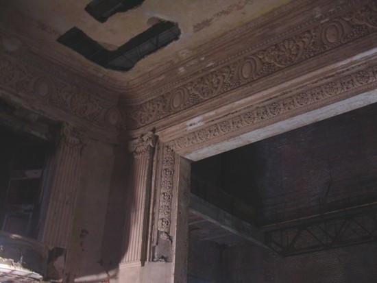 The haunting interior of the Sun Theater last year before renovation began.