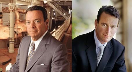 August A. Busch III, left, August Busch IV, right.