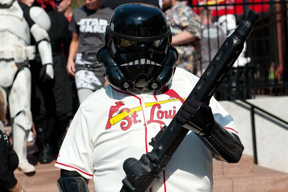 The Force was not with Yadi on Star Wars night. - JON GITCHOFF