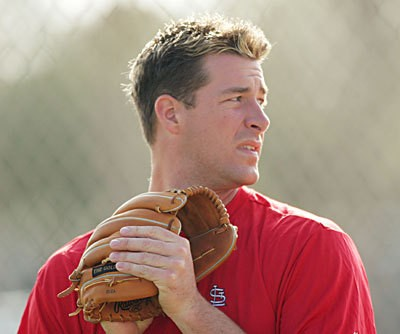Mulder shortly after signing with the Cardinals.