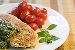 A Match chicken cutlet prepared by Freddie Holland. - JENNIFER SILVERBERG