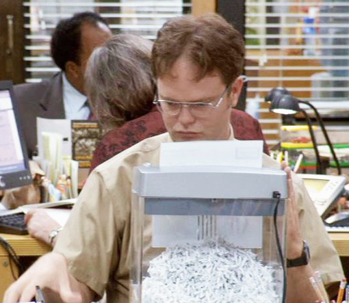 Shred Day: Dwight Schrute approved.