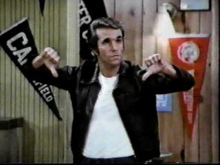 The Fonz expresses his displeasure with Jaime's performance last night.
