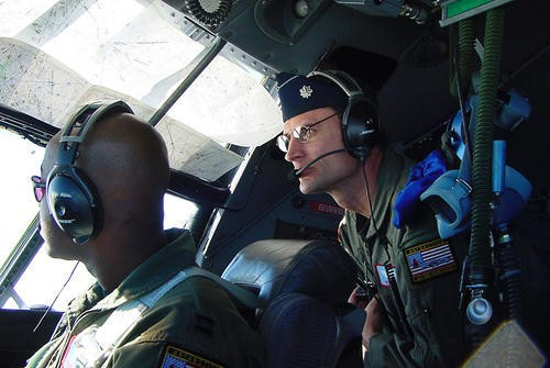 Smith (right) in flight. - COURTESY 109TH AIRLIFT WING