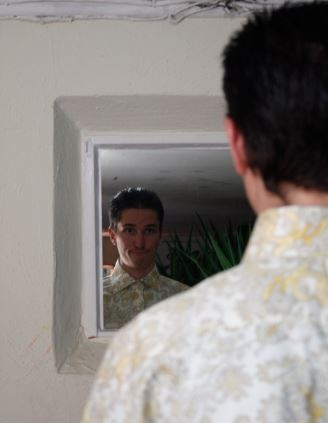 Looking at the man in the mirror... - NICK SCHLEICHER/STEPHANIE KITTS